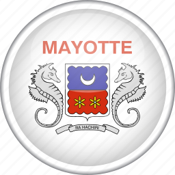 circle, country, flag, mayotte, national icon