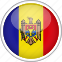 circle, country, flag, moldova, national icon