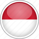 circle, country, flag, monaco, national icon