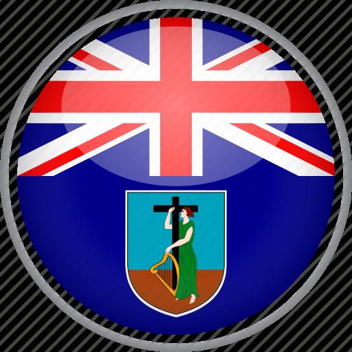circle, country, flag, montserrat, national icon