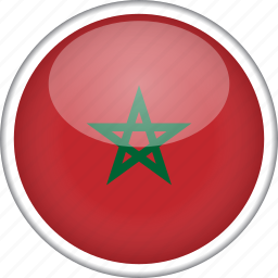 circle, country, flag, morocco, national icon