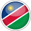 circle, country, flag, namibia, national icon