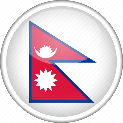 circle, country, flag, national, nepal icon