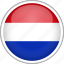 circle, country, flag, national, netherlands icon