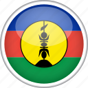 circle, country, flag, national, new caledonia icon