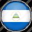 circle, country, flag, national, nicaragua icon