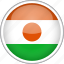 circle, country, flag, national, niger icon