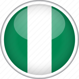 circle, country, flag, national, nigeria icon