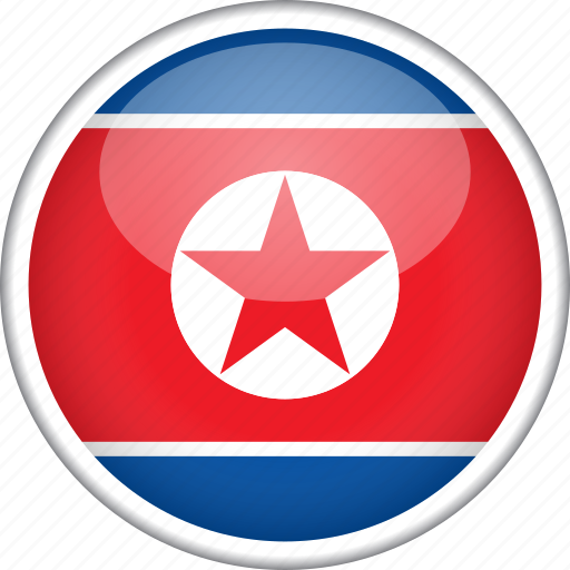 circle, country, flag, national, north korea icon