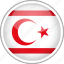 circle, country, flag, national, northern cyprus icon