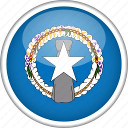 circle, country, flag, national, northern mariana islands icon