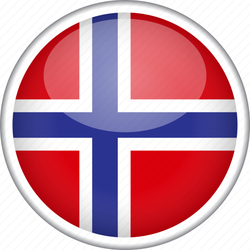 circle, country, flag, national, norway icon