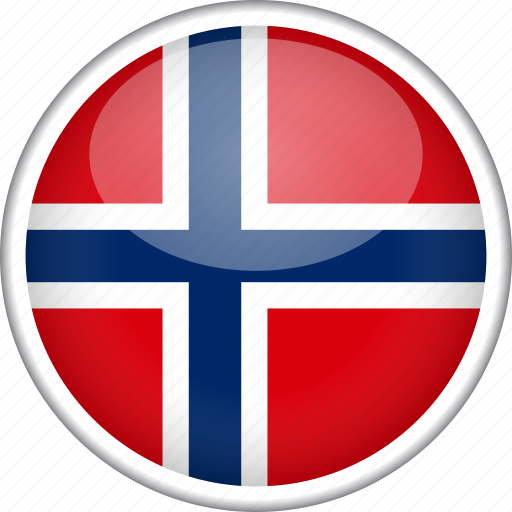 circle, country, flag, national, norway svalbard icon