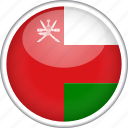 circle, country, flag, national, oman icon