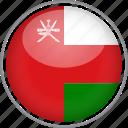 circle, country, flag, national, oman