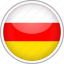 circle, country, flag, national, ossetia icon