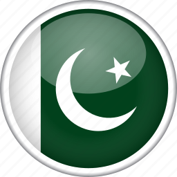 circle, country, flag, national, pakistan icon