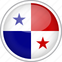 circle, country, flag, national, panama icon