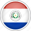 circle, country, flag, national, paraguay icon