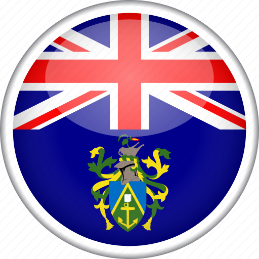 circle, country, flag, national, pitcairn islands icon