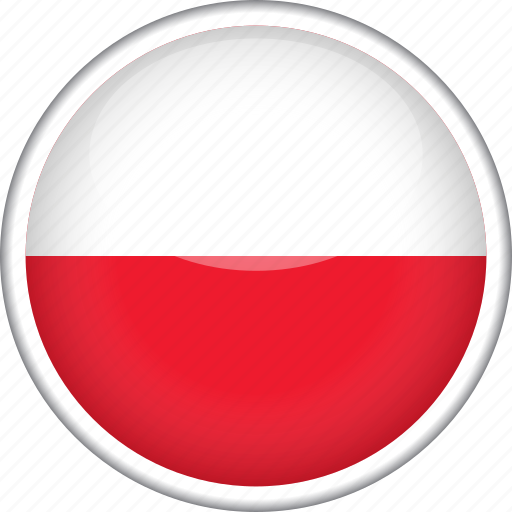 circle, country, flag, national, poland icon