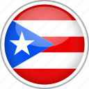 circle, country, flag, national, puerto rico icon