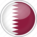 circle, country, flag, national, qatar
