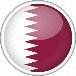 circle, country, flag, national, qatar icon