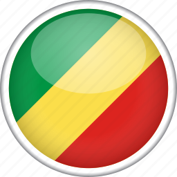 circle, country, flag, national, republic of the congo icon