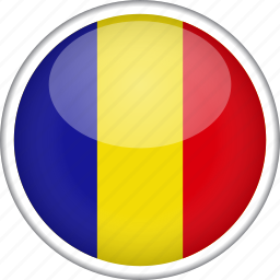 circle, country, flag, national, romania icon