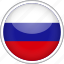circle, country, flag, national, russian icon