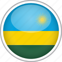 circle, country, flag, national, rwanda icon