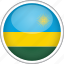 circle, country, flag, national, rwanda icon