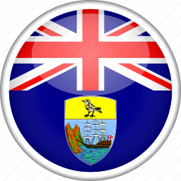 circle, country, flag, national, saint helena icon