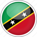 circle, country, flag, national, saint kitts and nevis icon