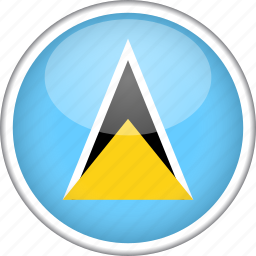 circle, country, flag, national, saint lucia icon