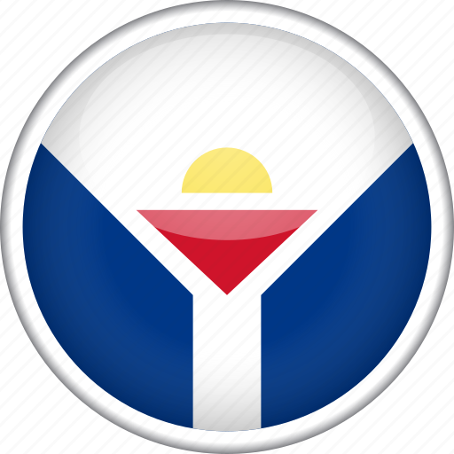 circle, country, flag, national, saint martin icon