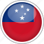 circle, country, flag, national, samoa icon