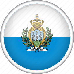 circle, country, flag, national, san marino icon