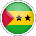circle, country, flag, national, sao tome and principe icon
