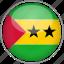 circle, country, flag, national, sao tome and principe icon