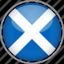 circle, country, flag, national, scotland
