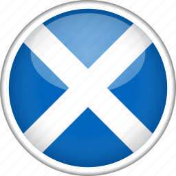 circle, country, flag, national, scotland icon