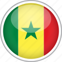 circle, country, flag, national, senegal