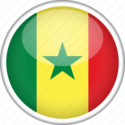 circle, country, flag, national, senegal icon