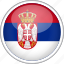 circle, country, flag, national, serbia icon