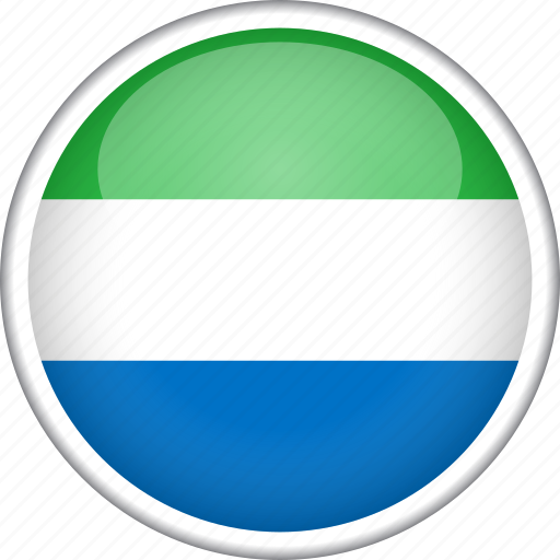 circle, country, flag, national, sierra leone icon