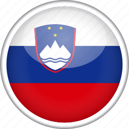 circle, country, flag, national, slovenia icon