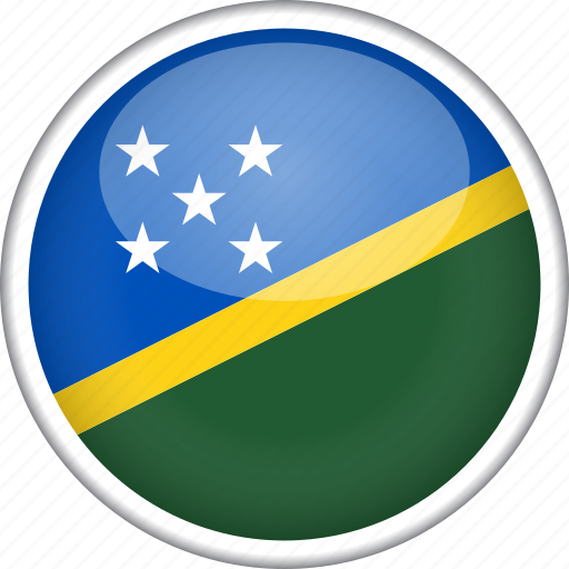 circle, country, flag, national, solomon islands icon