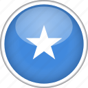 circle, country, flag, national, somalia icon